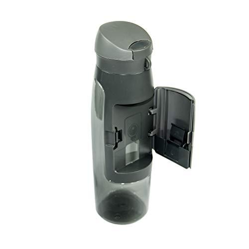 Profecus Botella con compartimento | Incluye bolsa de deporte | Práctica botella de agua de 750 ml | Botella de deporte para gimnasio al aire libre libre sin BPA | antigoteo