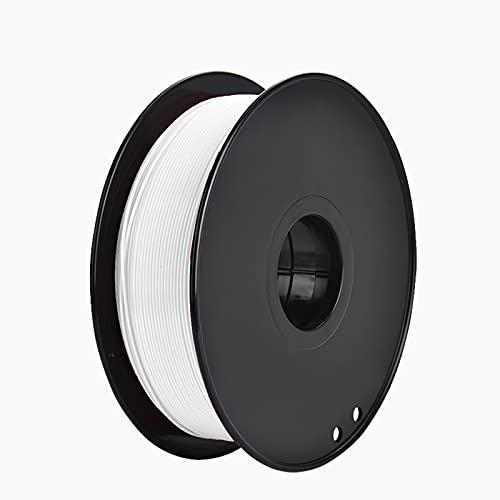 Night K 3D ABS Filament Filament PLA 1.75mm, 3D Printing Filament PLA for 3D printer, 1kg 1 Spool Dimensional Accuracy +/- 0.02 mm White