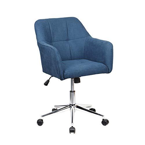 SVITA Jake Bürostuhl Konferenzstuhl Drehstuhl Chefsessel Höhenverstellung Blau
