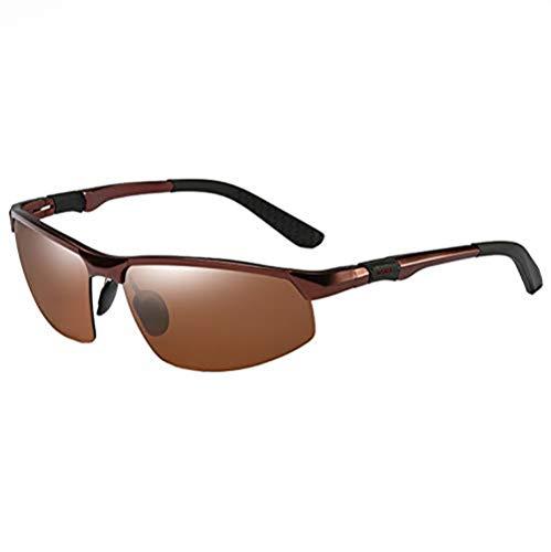 COLOMAX Sonnenbrille Sportbrille Laufbrille Polarisiert UV 400 Schutz Fitness Sport (Braun/Braun)