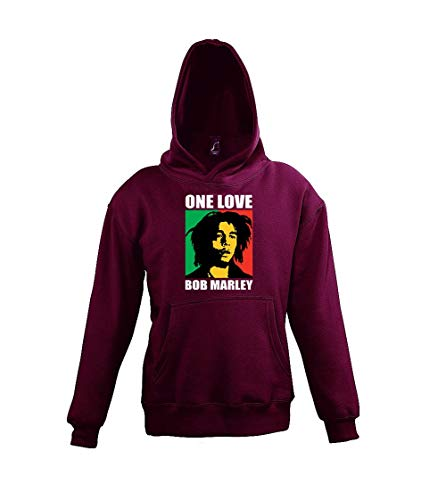 Youth Designz Kinder Hoodie Kapuzenpullover One Love - Burgundy 130/140 (10 Jahre)