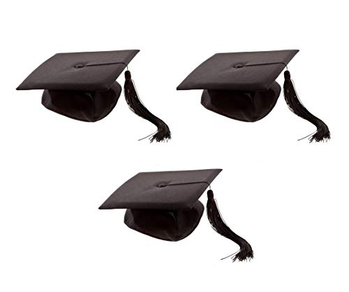Sonnenscheinschuhe® Dreierpack: 3 x Fun Verkleidung Doktorhut Universität Diplomhut Uni Bachelor Abschlussfeier Party Karneval