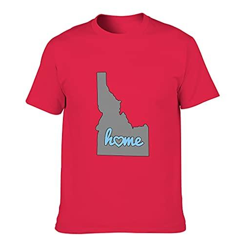 YCNJJB Camiseta de algodón para hombre, diseño de Mapa de Idaho