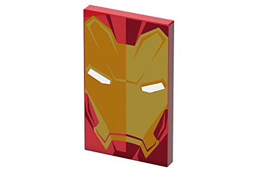 Tribe DC Comics - 4000 mAh powerbank batterij Fast Charge I externe accu I mobiele telefoon oplader voor smartphone iPhone 7, 7+ 6s 6 Plus SE, iPad, Samsung Galaxy enz, Iron Man, Marvel, multicolor