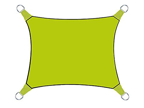 Perel GSS4430LG Sonnensegel - Rechteckig, Lime Grün, 400 x 300 x 0,2 cm