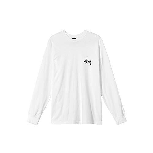 [ステューシー] STUSSY Tシャツ 長袖 Basic Stussy Ls Tee メンズ ロンT USモデル 正規品 [1994615] S WHITE [並行輸入品]