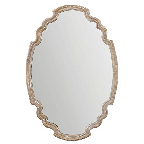 Uttermost 14483 Ludovica Oval Mirror, Natural Wood -