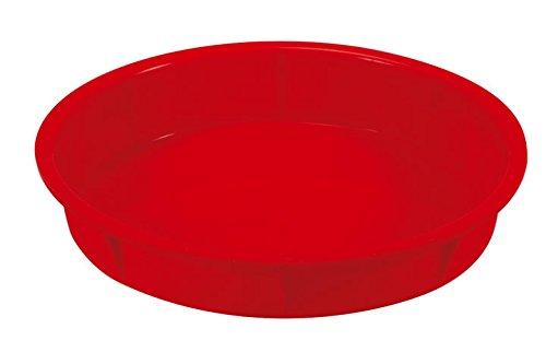 Guardini Juliette, Moule à clafoutis 24 cm, silicone alimentaire, Couleur rouge
