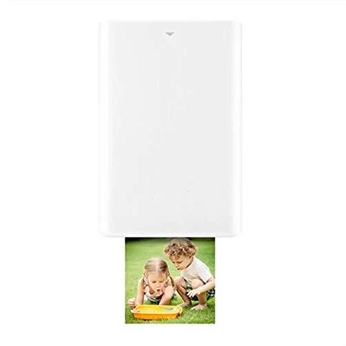 HJKH Mini Impresora fotográfica Zink Foto AR Impresora 300dpi Honor de Bolsillo Mini Bluetooth 4.1 Impresora (Color : Blanco, tamaño : Un tamaño)