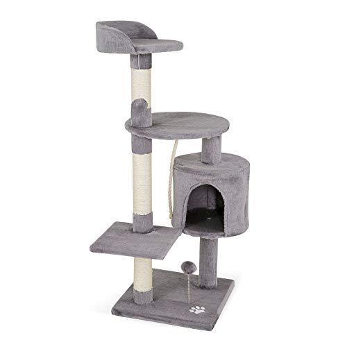 dibea Tiragraffi per gatto albero tiragraffi gatto gioco giocattolo gatti Altezza 112 cm Grigio chiaro