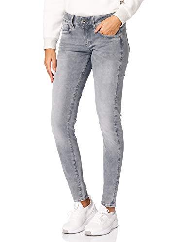 G-STAR RAW Damen Lynn Mid Waist Skinny Jeans, Faded Industrial Grey 9882-B336, 31W / 36L
