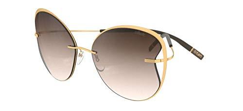 Gafas de Sol Silhouette TITAN ACCENT SHADES 8173 Gold/Brown Shaded talla única mujer