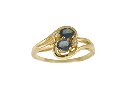 Designed by Ellen Alexandrite Ring Natural Color Changing Alexandrite Diamond Ring in 14k Gold