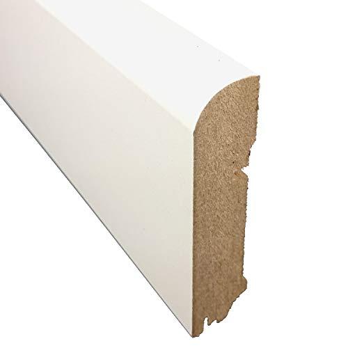 Sockelleiste CUBE Gerade Form   Farbe: Weiß   Länge: 250 cm - Tiefe: 18 mm - Höhe: 78 mm   Sie kaufen 1 Stück mit 250 cm Länge - Höhe: (78 mm)