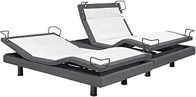 Reverie DynastyMattress 8Q-Series Adjustable Bed Base - Wireless - Bluetooth - Massage-Under Bed Lighting-Split King