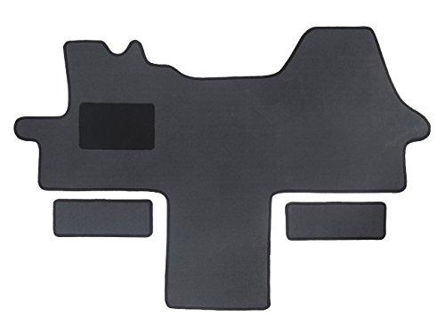 Alpha-Tex Fußmatte 1614 - Autoteppich (1-TLG. + 2 Einstiege in Qualität Deluxe grau, Umrandung Silber)