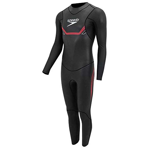 Speedo Proton THINSWIM Male Fullsuit L/S Neoprenanzug, Herren, Black/Lava Red, ST