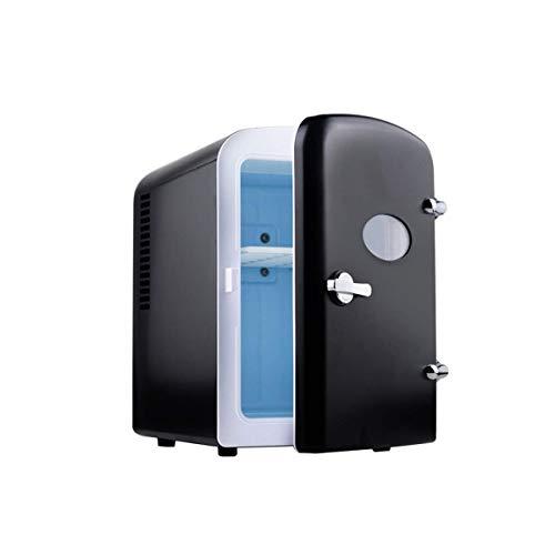 CNDY Mini-Kühlschrank fürs Büro, Smart-Kühlschrank, Auto-Heimkühler und -wärmer, Kompatibilität mit Gleichstrom, 4 Liter, Schwarzes Auto