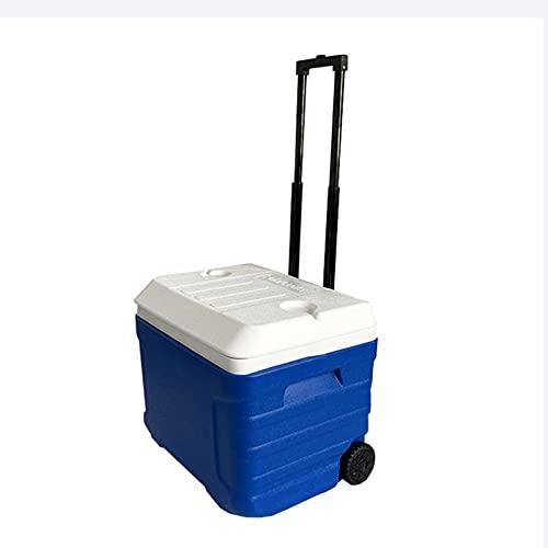 Refrigerador con Ruedas 40 litros, Hielera con Aislamiento, Fácil De Transportar, Aislante Y para Uso En Frío para Picnic, Viajes, Camping, Senderismo, Playa Y Viajes (Azul)