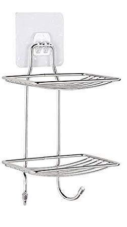 ADTALA Updated Design Steel Self Adhesive Organizer Storage Hanging Shower Caddy Rack for Bathroom