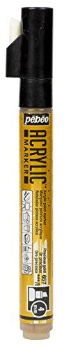 Pébéo 201657 Marqueur acrylique Pointe biseautée 4mm Or précieux