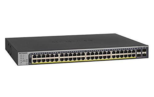 NETGEAR GS752TPv2 48-Port 380 W Gigabit PoE+ Ethernet Smart Managed Pro Switch with 4 SFP Ports