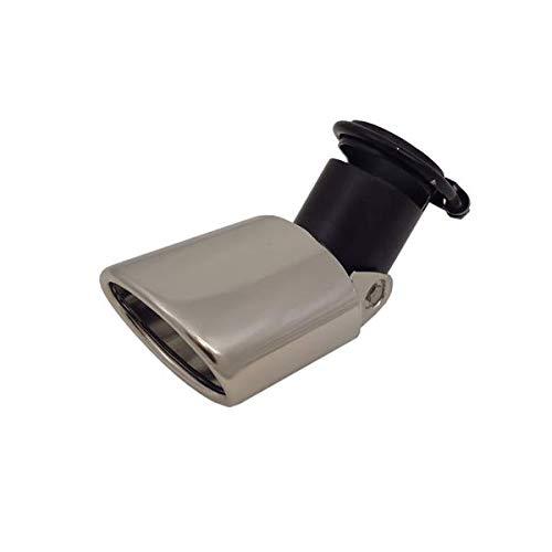 Auspuffblende universal - Edelstahl - Oval - verstellbar - Anschluss 45-58mm