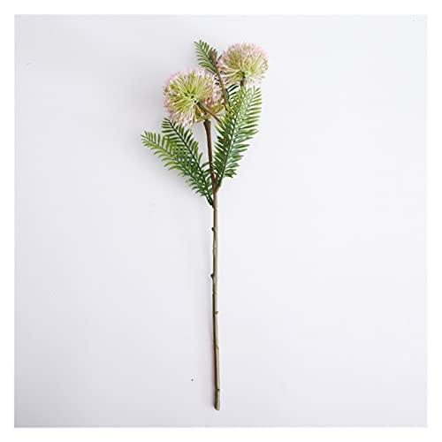 Künstliche gefälschte Blumen,44cm künstliche grüne Pflanze Dorn Schwanz Zwiebeln,für DIY Blume Home Garten Hochzeit Topf Blume Anordnung Fotografie Dekoration Ornamente fallen topf (1 stücke) Artifici
