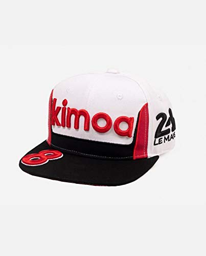 KIMOA Gorra 24H Lemans Negra y Blanca