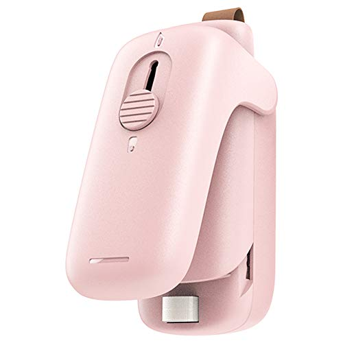 Upgraded Handheld Heat Bag Sealer, 2 in 1 portable Plastic Bags Sealer and Cutter, Endless food Sealer for Airtight Food Storage Saver, Reseals Snack Bags, Seals Plastic Aluminum Chip Packs, Seals Pla
