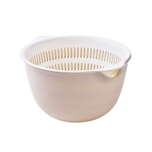 Cuenca de drenaje de fruta simple doble capa cesta de drenaje hogar cocina fregadero plato de frutas cesta de verduras para cocina alimentos/pasta/verduras/arroz/fruta/fideos
