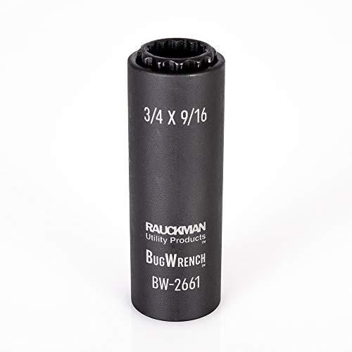 Impact Rated 2-in-1 Black Oxidized Spring-Loaded Socket, 12 Point, 3/4 and 9/16