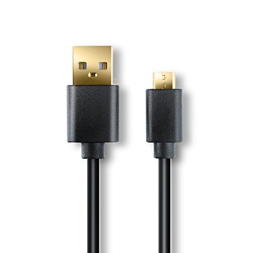 CSL - 3m High Speed Micro USB naar USB kabel - laad- en datakabel - snelle laadkabel - extra hoge kabeldiameter 4,4mm - 24k vergulde contacten - voor Android, Samsung, HTC, Nokia, LG, Sony en meer