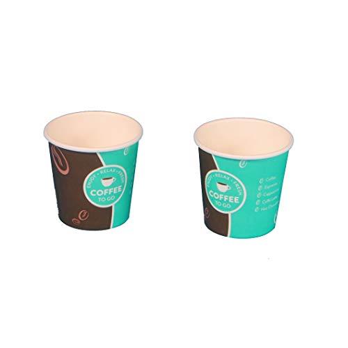 1000 Espresso to go Becher Espressobecher Kaffeebecher Probierbecher Hartpapier+PE 100ml 4oz