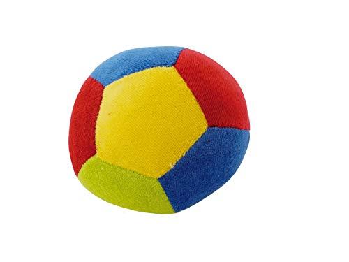Bieco Ball Kleinkinder mit Rassel   11 cm   Baby Spielzeug ab 12 Monate   Mädchen und Jungen   Softball   Activity Ball   Stoffball   Spielball   Ball Soft   Hund Softball  
