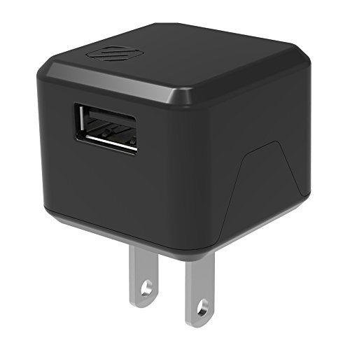 SCOSCHE USBH121 SuperCube Flip Single USB Port Wall Charger for USB Devices, Black