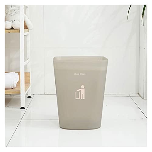 Cubo de Basura de Interior Rectángulo de plástico pequeño bote de basura contenedores de basura Papelera Papelera for cuartos de baño, polvo de salones, cocinas, oficinas en casa, for niños Habitacion
