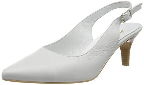 Andrea Conti 1743413, Zapatos de tacón con Punta Cerrada Mujer, Blanco, 40 EU
