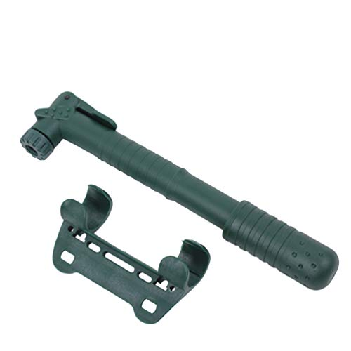 Mini Bike Pump, Mini Bicycle Pump Hand Pump with Needle and Frame Mount Perfect for Balloon Inflatable Boat Swim Ring Fits Presta & Schrader Valve,Green