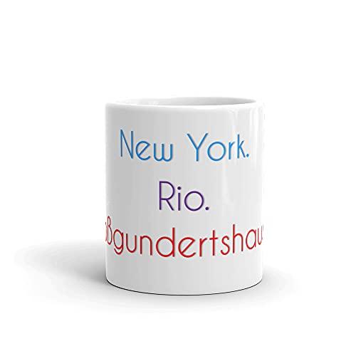 Großg&ertshausen Becher   Tasse mit lustigem Spruch: New York. Rio. Großg&ertshausen.