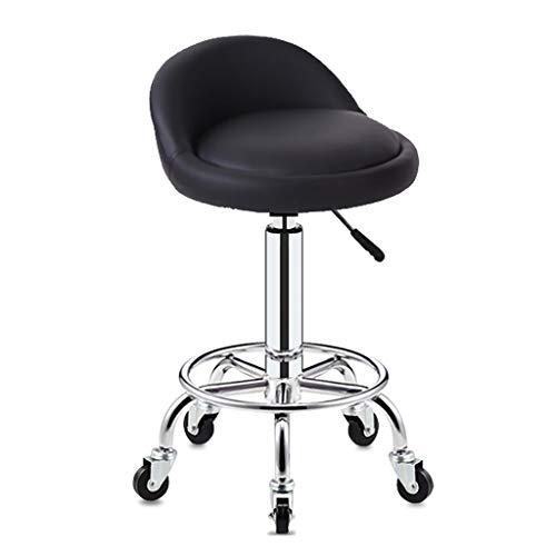 Lwjjby Hydraulische Massage und Salon Hocker Bürodrehstuhl Hocker mit Rückenlehne (Color : A1)