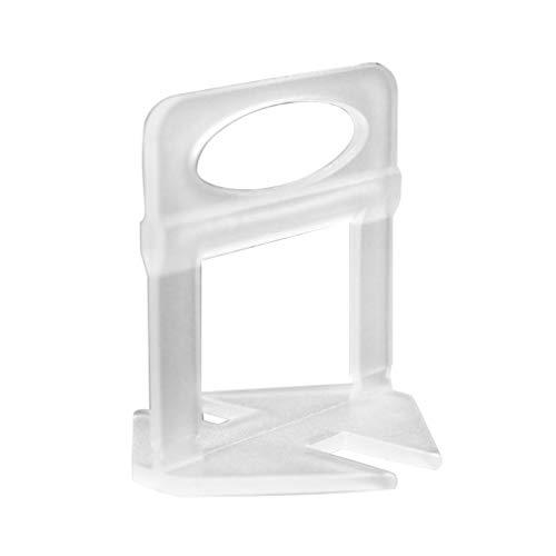 Sistema de nivelación del localizador de baldosas Juego de Herramientas de instalación de baldosas Herramienta de alicates de Piso (Transparente1 mm)