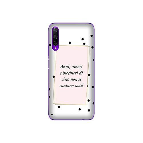 Funda 9X Pro Carcasa Compatible con Honor 9X Pro Frases Divertidas Las Copas de Vino Nunca se cuentan/Imprimir también en los Lados. / Teléfono Hard Snap en Antideslizante Antideslizante Anti-Raya
