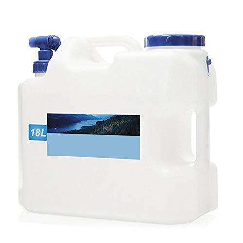 Tragbarer Wasserkanister mit festmontiertem Ablasshahn/Wasserauslauf, BPA-frei Kunststoff Auto Wassertank Camping Outdoor BBQ und Lange Reise etc,10L 15L 18L