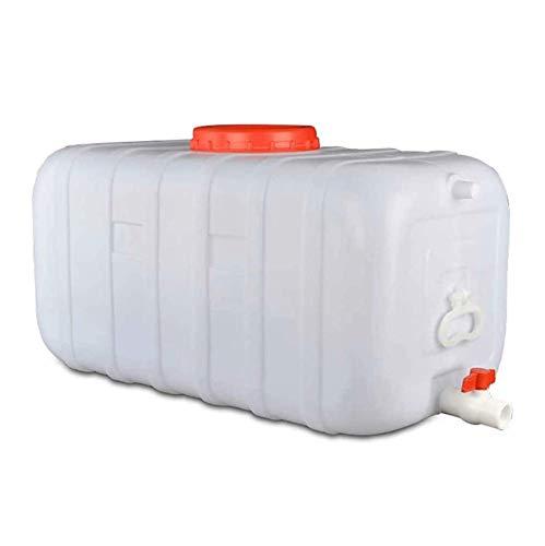 ZhHOME Blanco Contenedor de Agua Portátil, Bidón Plástico con Grifo Contenedor de Almacenamiento de Agua con Tapa y Grifo para Acampar Viajes Pesca Picnic 25L del Agua del Barril Portátil(Size:25L)
