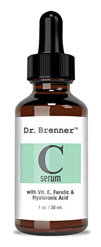 Vitamin C Serum 20% Pure L-Ascorbic Acid, Ferulic Acid, Vitamin E and Hyaluronic Acid for Face and Eyes Natural Anti Aging Anti Wrinkle 1oz. by Dr. Brenner (1 oz)