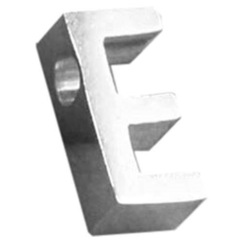 1.8mm穴開き プレート アルファベットステンレスパーツ (文字)H アクセサリーパーツ 部品 材料 資材 DIY 手芸 金属部品 チャーム シンプル 名前 英語 文字 恋人 カップル ペア