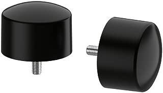 IKEA RAFFIG - Finial, black / 2 pack