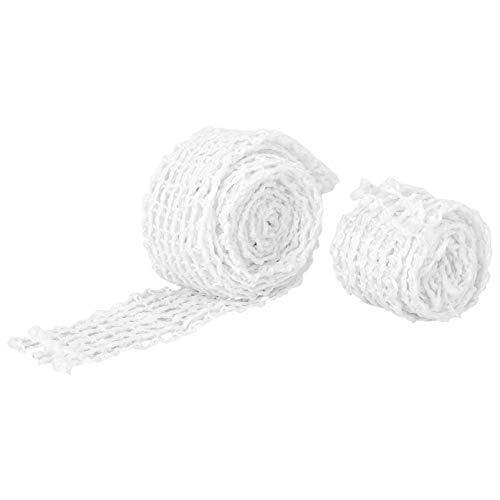 Hemoton 2 Stück Bratennetz Fleischnetz Rollbratennetz Räuchernetz Fleisch Netz Rollbraten Netz Schinkennetz Elastische Netz Räuchernetz für Einfüllrohr Kochzubehör 1M/3M