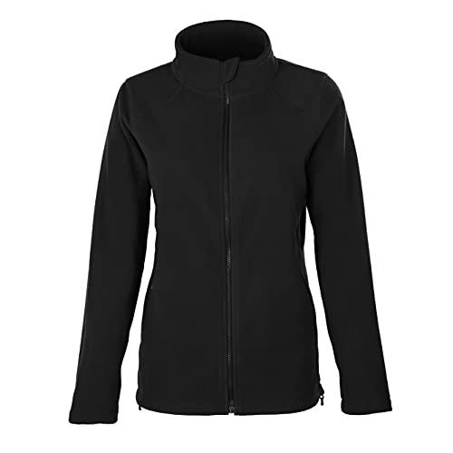 HRM Women´s Full- Zip Fleece Jacket, Schwarz, XL, 1202